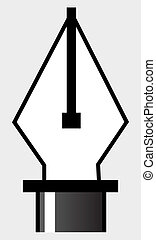Pen tool, a symbol for illustrations and drawings,...