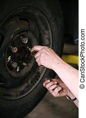 Automechanic - an automechanic at work...........