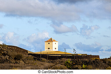 Yaiza, Lanzarote - old  farm house  converted in a home
