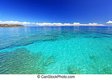 Okinawa, paradise, tropical, sea - The cobalt blue sea and...