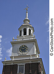 Bell tower - Decorative bell tower of Independence Hall in...