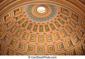 Rotunda - Colorful rotunda in Cathedral Basilica of Saints...