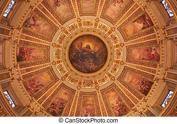 Rotunda - Beautiful painted interior of rotunda of Cathedral...