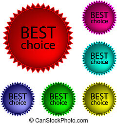 Best choice - Collection of glossy buttons Best choice in...