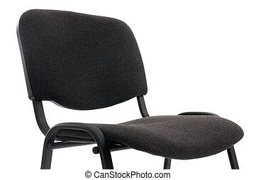 black office chair isolated on white - a simple black office...