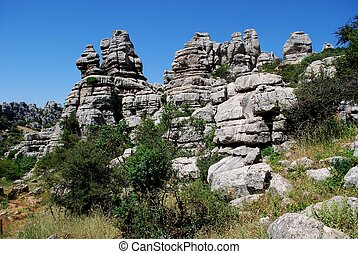 Karst landscape, El Torcal, Spain - Karst landscape, El...