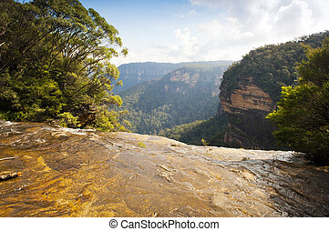 Wentworth Falls - Looking out over Wentworth Falls in the...