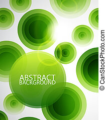 Green circles abstract background