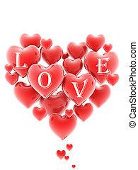 Coração, Dado forma, cacho,...