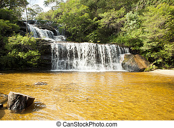 Wentworth Falls, Blue Mountains - Wentworth Walls waterfall...