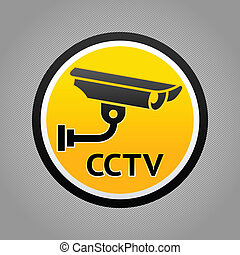 Surveillance camera warning pictogram