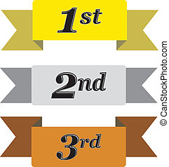 Winners Ribbons - Winners ribbons for first, second and...