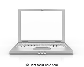 notebook, laptop, netbook isolated on white background 3d...