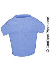 T-shirt blue 3d render textured cotton