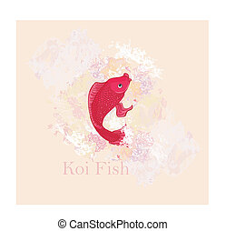 japanese koi vector background