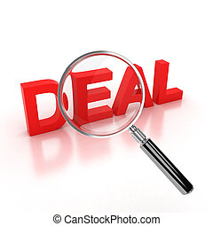 finding a good deal icon 3d illustration