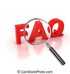frequently asked questions icon - FAQ 3d letters under the...