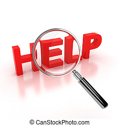 search for help icon 3d illustration