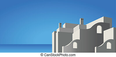 Mediterranean Architecture - Illustration of mediterranean...