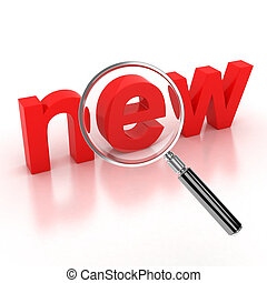 search new items icon 3d illustration