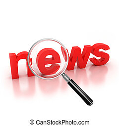 search for news icon 3d illustration