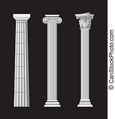 Antique Columns - Antique Greek Column illustrations on...