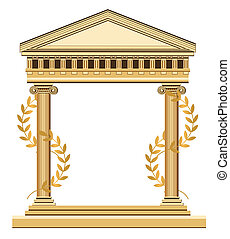 Antique Greek Temple - Illustration of an antique temple...
