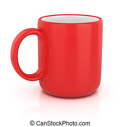 red cup isolated 3d illustration
