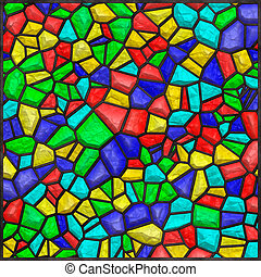Stained glass colorful - High quality seamless stained glass...