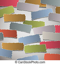 background with torn paper banners