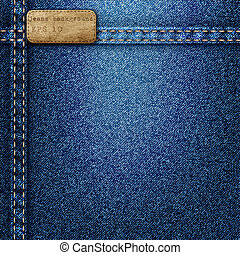 Denim background Vector realistic texture
