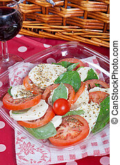 Caprese salad - Fresh italian caprese salad with mozzarella,...