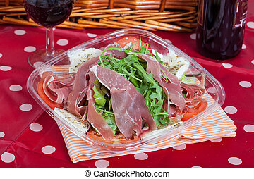Italian Salad with ham - Delicious salad with Parma Ham,...