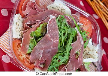 Italian Salad with ham - Delicious salad with Parma Ham,...