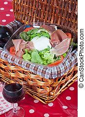 Bufala mozzarella salad - Delicious italian salad with...