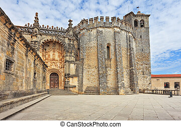 The imposing medieval castle - the monastery of the Templars...