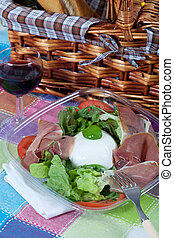 Bufala mozzarella salad - Delicious italian salad with...