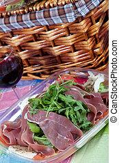 Parma Ham salad - Delicious salad with Parma ham, arugula...