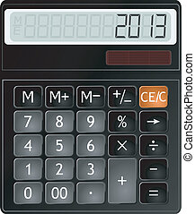 Vector illustration of a calculator
