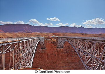 The bridge across the Colorado River