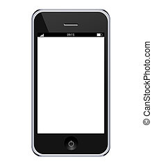 Vector realistic mobile phone isolated on white background. Eps10