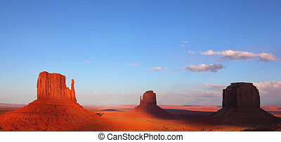 The cliffs in Monument Valley