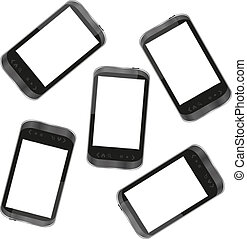 smart phone for mobile communication background