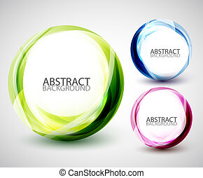 Abstract vector swirl set - Vector abstract designs of color...