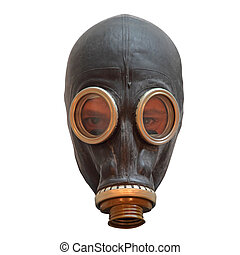 Chernobyl mask isolated on white background, front view