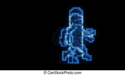 LED Dancer Blue - A groovy loop of a dancer displayed in...