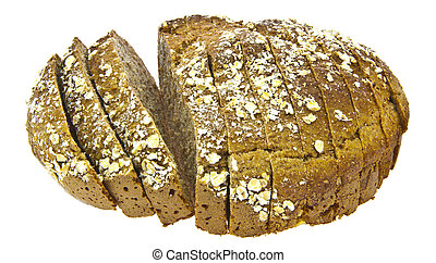 Irish soda bread on white background