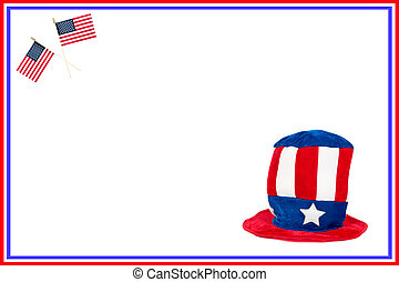 Patriotic card - A colorful, patriotic image for a Fourth of...