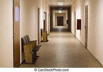 Corridor in public institution - the image of Corridor in...