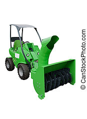 snow plow isolated under the white background